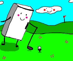 Happy Fridge goes golfing