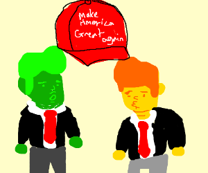 Green and yellow donald trumps