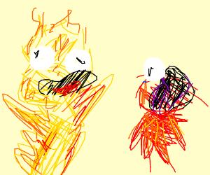 Aggro Yellmo goes super screamo on Emo Elmo