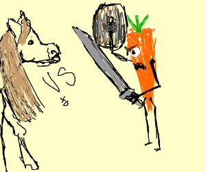 HORSE VS CARROT, THE STANDOFF OF A LIFETIME!