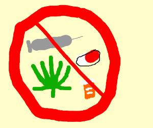 Anti drug poster