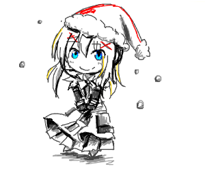 Darkness (Konosuba) Chibi with a santa hat