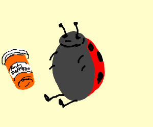 lady bug with depresion