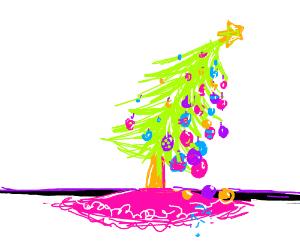 a lopsided christmas tree
