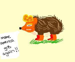 Donald Trump as a hedgehog