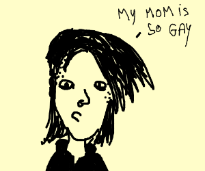 Scene kid says her mom is gay.