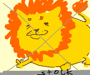 obese shutterstock image of a lion