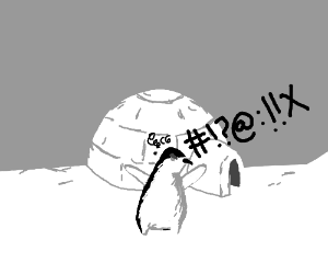angry little penguin swearing