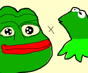 pepe x kermit (this is really disgusting)