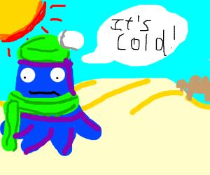 Blu says it's cold... in a dessert