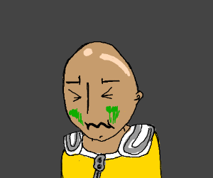 One Punch Man is about to throw up