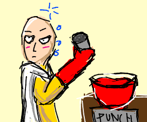Saitama gets drunk off one (spiked) punch
