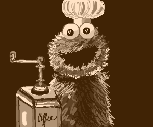 cookie monster grounds coffee