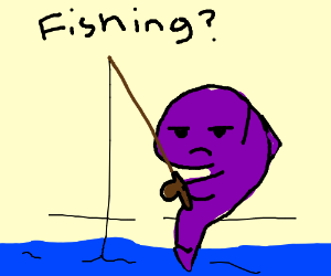 fish with an fishing rod
