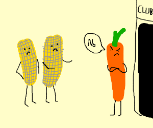 No corn on the cob men allowed