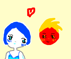 ice gurl and fire boi