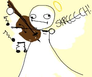 angel plays the violin