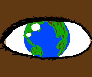 The Earth as someone's eye
