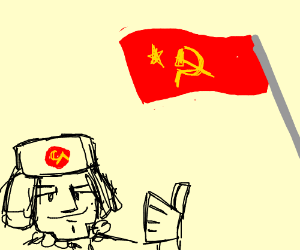 Saluting the Hammer and Sickle