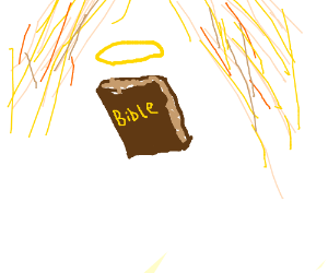 The bible goes to heaven