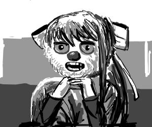 monika's ending scene but its yellmo