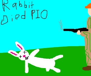 Because the rabbit died... PIO
