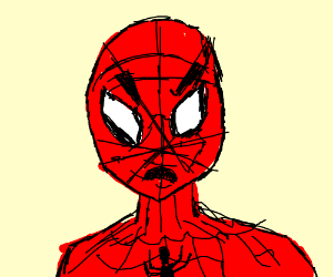 Angry spider man