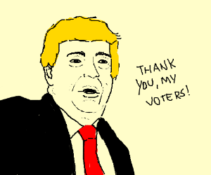 trump thanks his voters