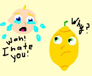 Baby hates lemons