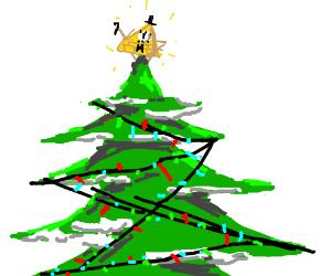 Christmas Tree Bill.Bill Cipher The Star Of The Christmas Tree Drawception