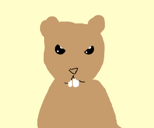 Angry Cute Hamster Drawing By Ethan Klein Drawception
