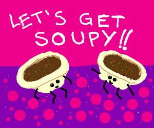Bowls of soup dance, celebrate their soupiness