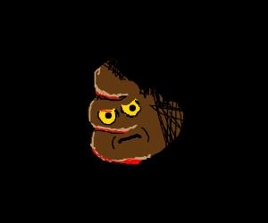 Poop Emoji fighting alongside the Sith