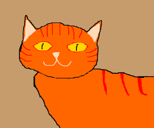 Draw a cat with the current pallet