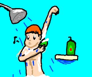 guy uses avocado shampoo