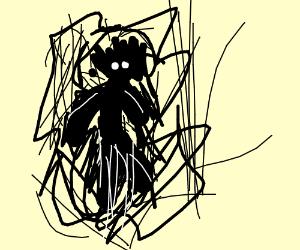 Sketch of a spooky man