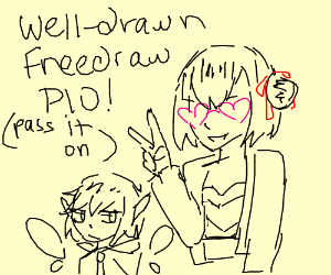 Jey, my 100th game! Nicely drawn freedraw pio!