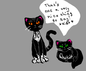 Crappy drawned cats