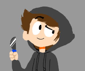 kid with a knife