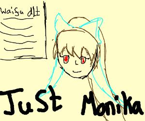 surprise! monika deleted ur waifu