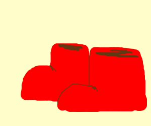 Two red boots