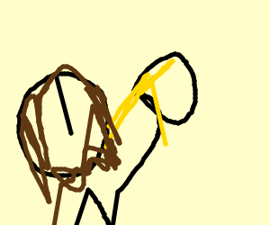 Jesus drinking urine
