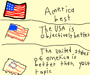 the usa is objectively better