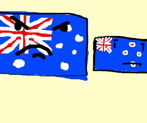 the australian flag hates the new zealand flag