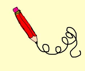 a pencil scribbling