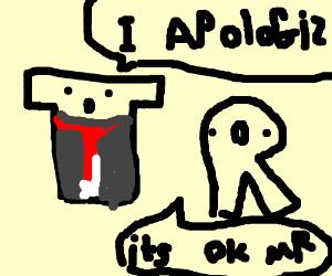 Mr T apologies