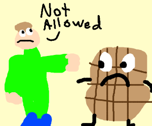 person telling peanut that it's not allowed