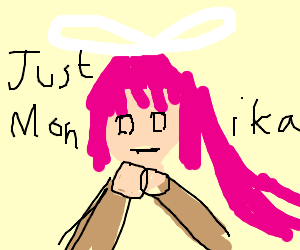 Just monkia but with pink hair