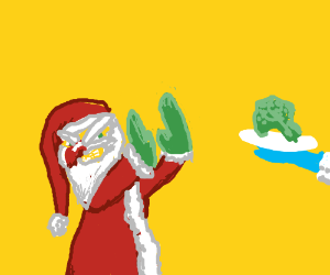 Santa is a food snob