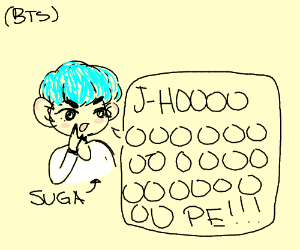 "Suga from BTS screams ""J-HOOOOOPE!"""